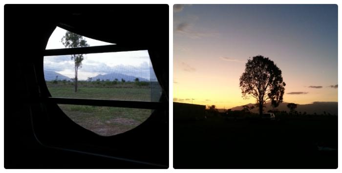 La vue depuis notre van