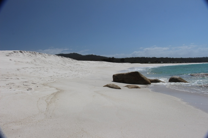Le sable nous éblouit !