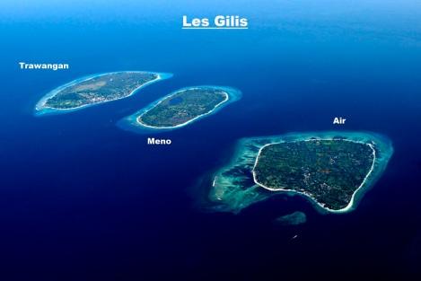 Les îles Gili. Source: