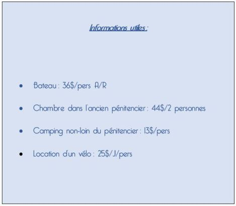 Informations utiles Maria Island