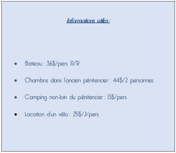 Informations utiles Maria Island
