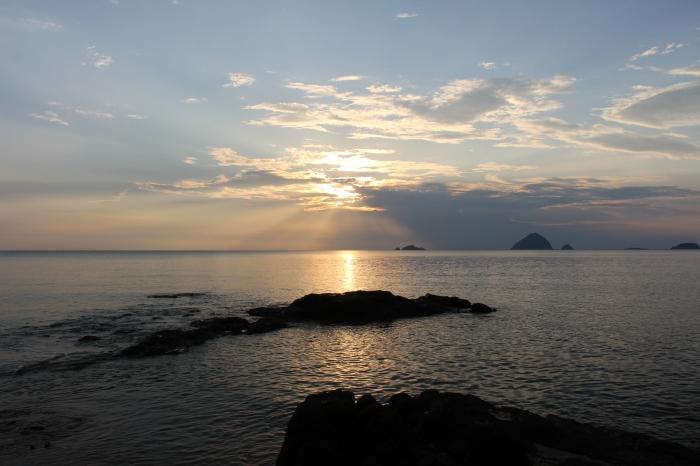 Un dernier coucher de soleil, à Romantic Beach