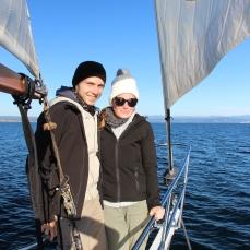 Premier tour en voilier pour nous :)